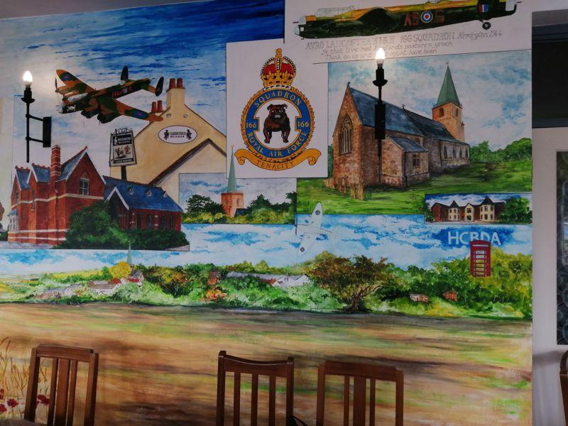 166 Squadron mural