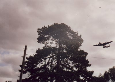Annual 166 Squadron Memorial Service - Lancaster Fly-past