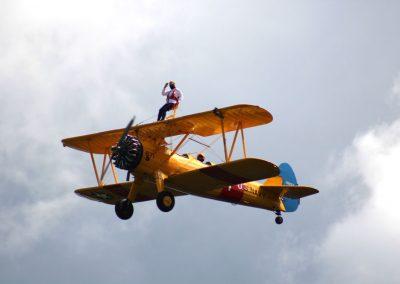 Vintage plane wing walker